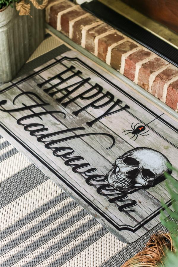 skull door mat