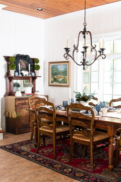 fall breakfast room