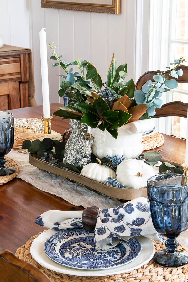 kitchen table set for fall