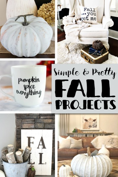 Simple Fall Projects to get your decorating started with features from Inspiration Monday weekly link party!