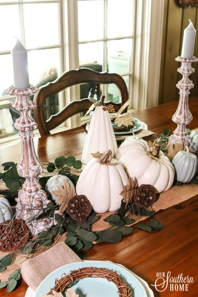 Painting Old Faux Pumpkins