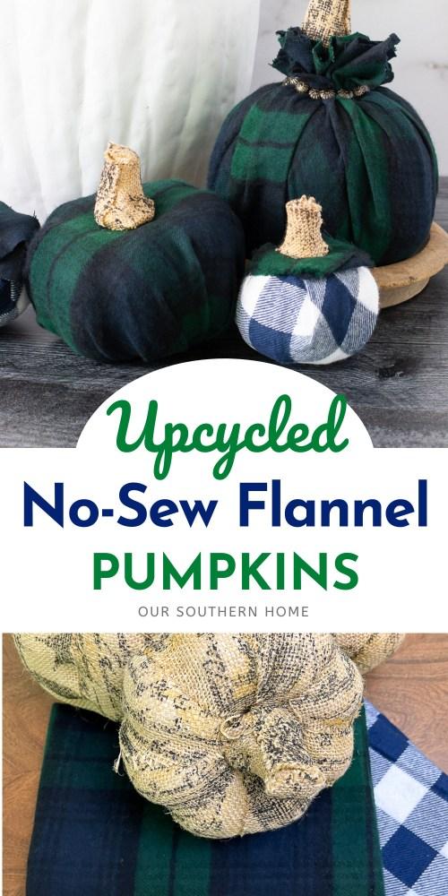 flannel pumpkins