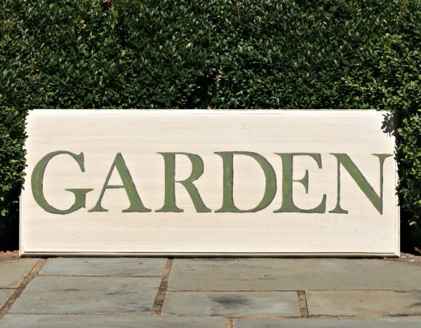 garden sign by our southern home 1