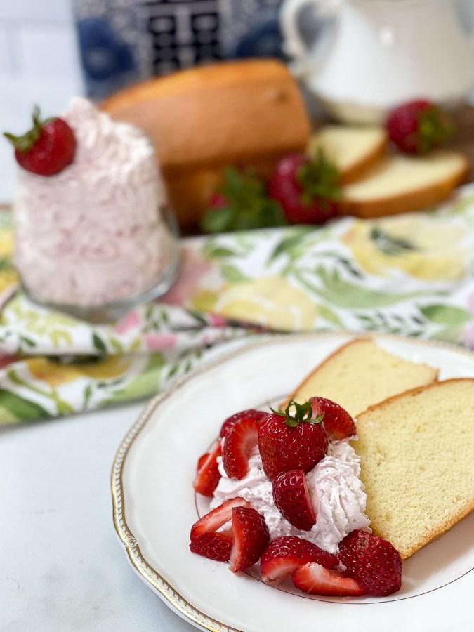 whipped cream on dessert plates