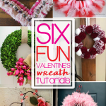 Six beautiful Valentine's Day Wreath ideas are the features for this week's Inspiration Monday Link Party! #valentinesday
