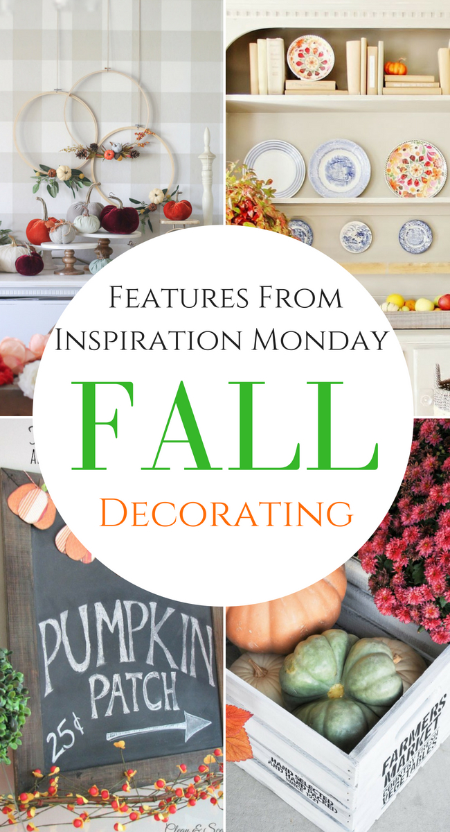 collage of fall decor with text overlay