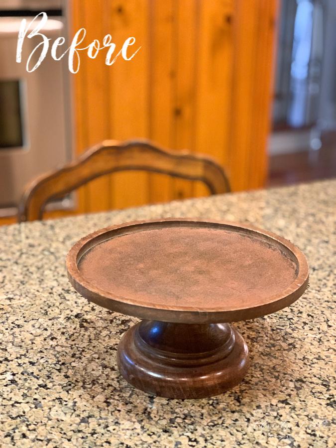 brown pedestal