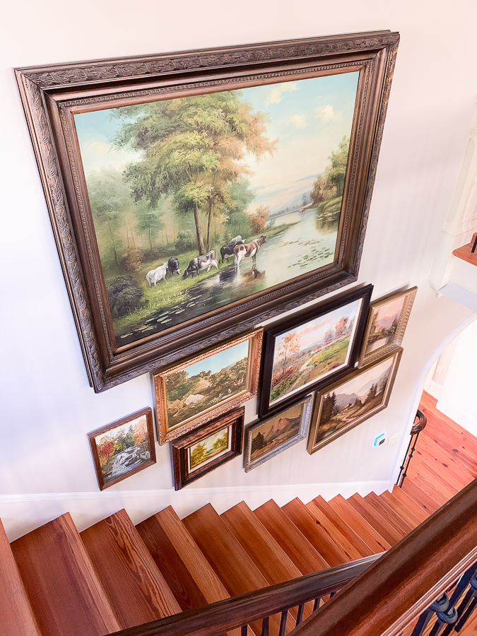 vintage gallery wall of landscapes