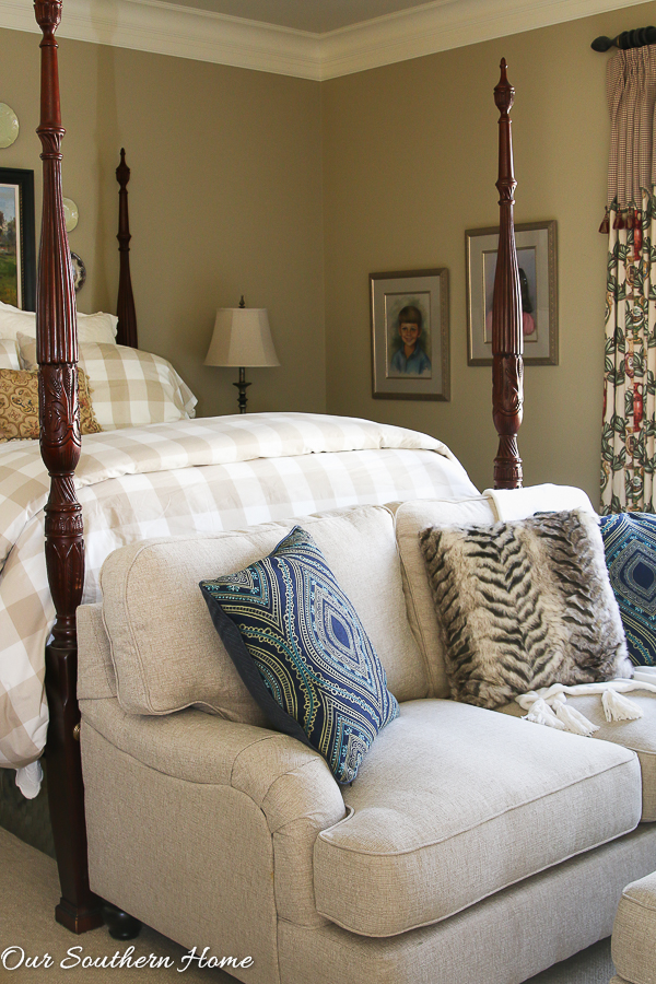 Loveseat for the Master Bedroom - Our Southern Home