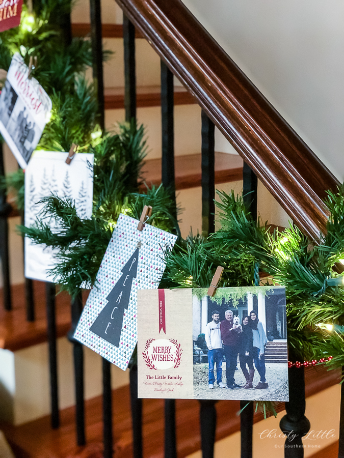 Creative Christmas Card Displays - Our Southern Home