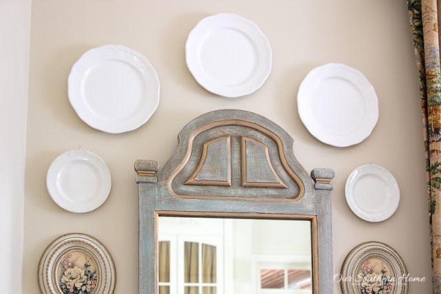 plates over a mirror