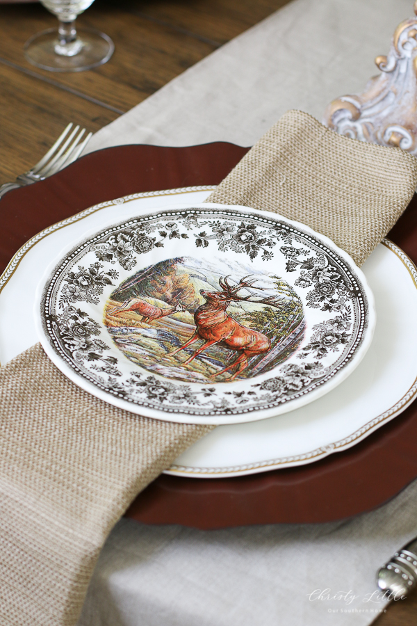 fall table with plates