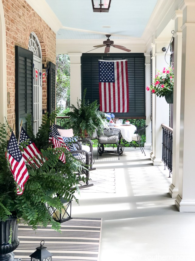 patriotic front porch for summer