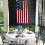 Southern Patriotic Porch with simple ideas to show your pride! #porch #patrioticporch #southernporch #patrioticdecor #patrioticideas #4thofjuly #laborday #memorialday