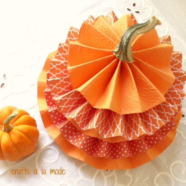 pumpkin in paper