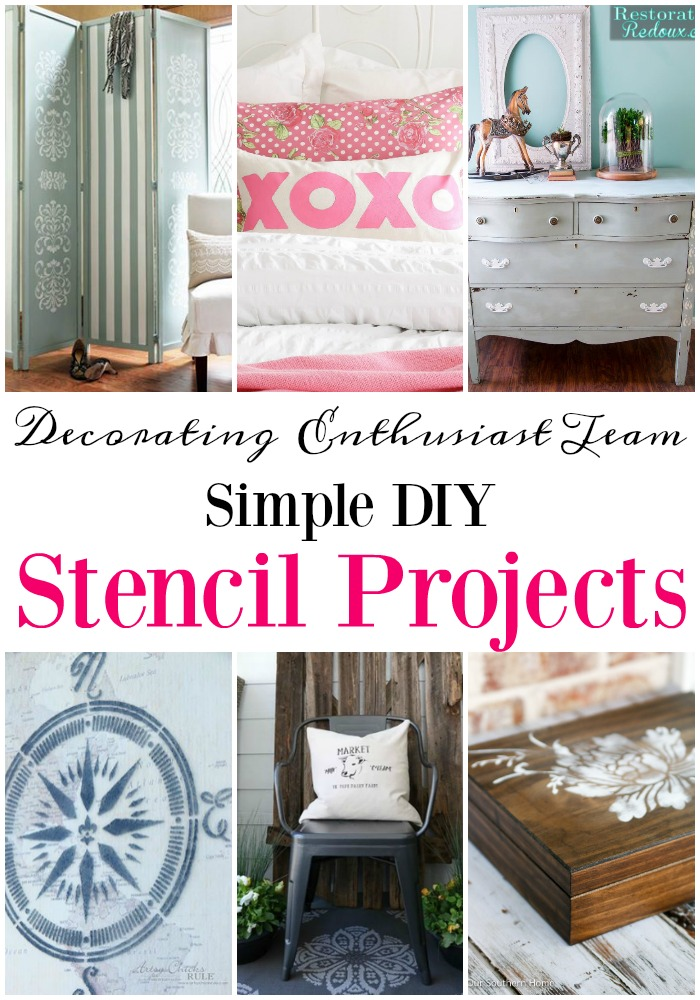 Simple DIY projects to decorate your home with the monthly challenge from the Decorating Enthusiast Team!