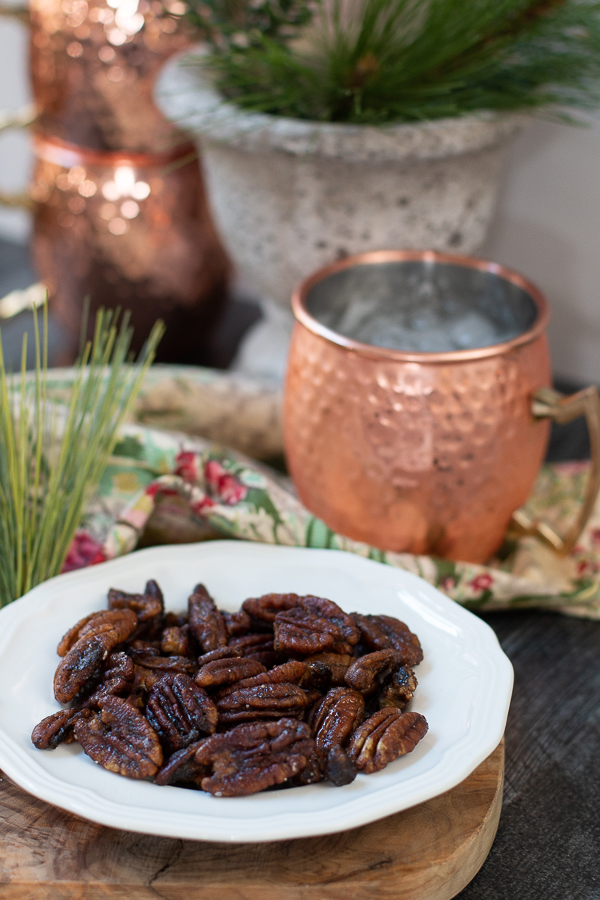 pecans on a plate