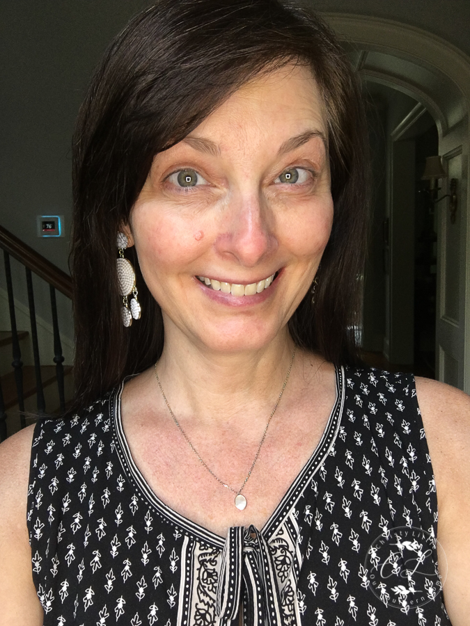 Before my simple summer makeup look with minimal products! #makeup #over40makeup