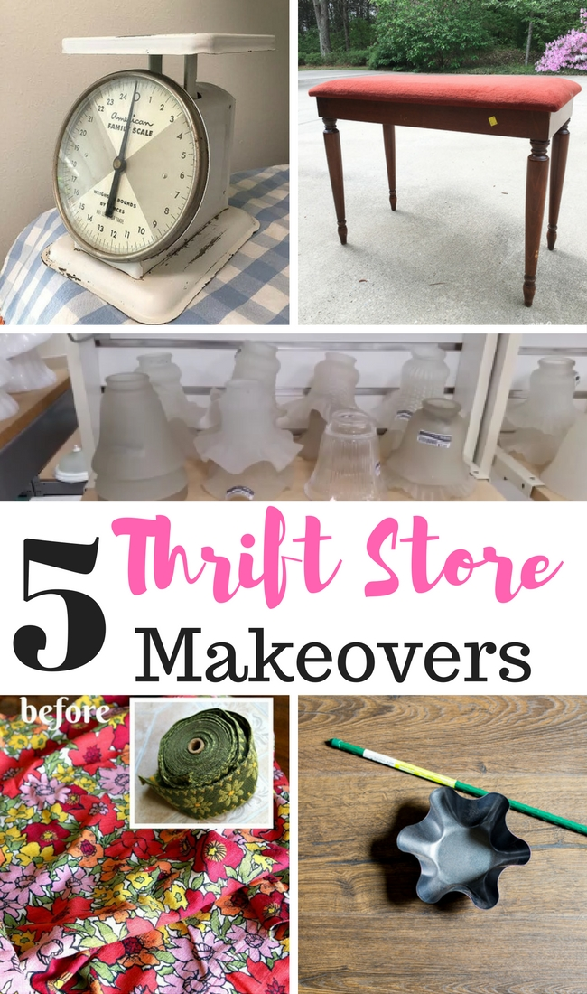Thrift store makeovers each and every month to inspire your home decor!