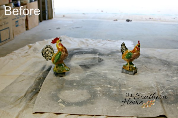 Reinvent thrift store decor simply with spray paint via Our Southern Home