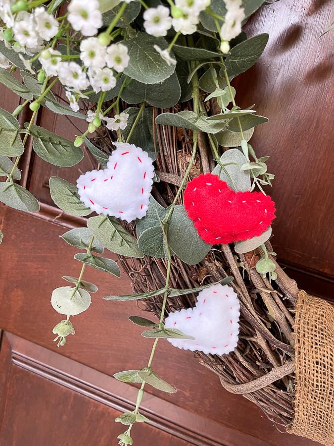 hearts on a wreath