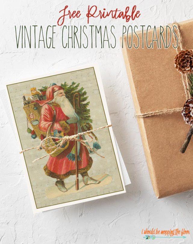 vintage christmas card printable
