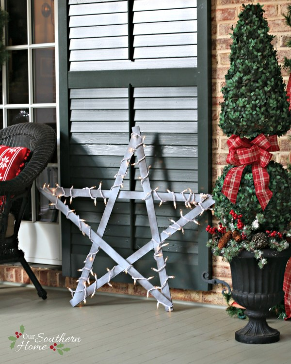 Simple DIY / Weathered yardstick stars by www.oursouthernhomesc.com