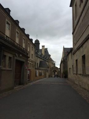 brick layered streets