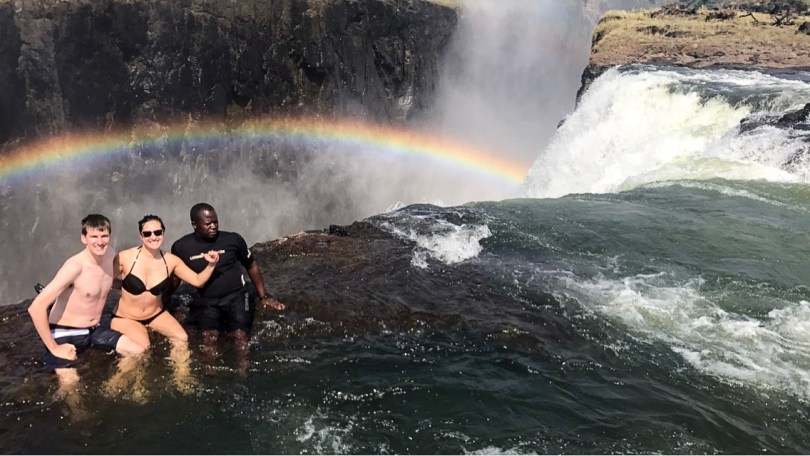 surfs up at Victoria Falls Devil's Pool