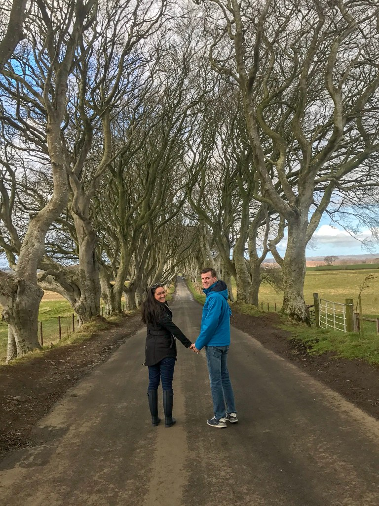 Do not forget your best walking shoes when you pack for Ireland. Not all the roads are paved like the Dark Hedges aka Kings Road.