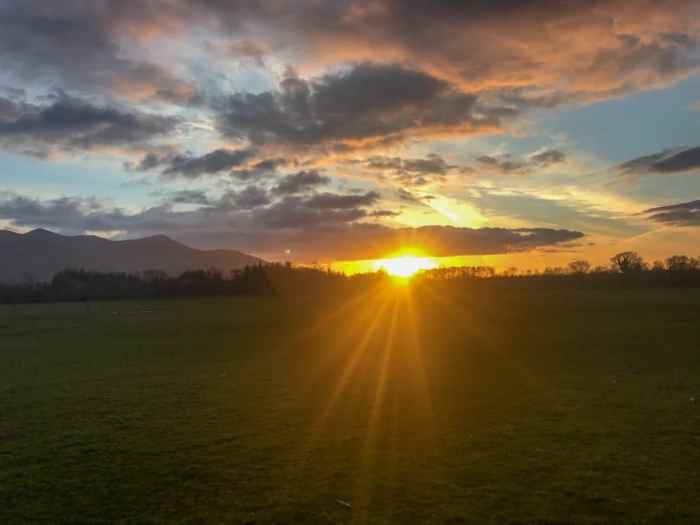Sunset at Cahernane House Hotel. A boutique hotel in Killarney, Ireland.