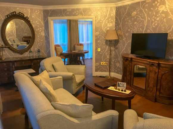 Junior Suite at Cahernane House Hotel. A boutique hotel in Killarney, Ireland.