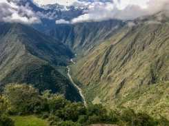 Stunning views hiking the Inca trail