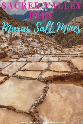 A guide of all the things to see in the Sacred Valley, including our favorite site, the Maras Salt Mines! #SacredValley #Peru #Cusco #Maras #SaltMines