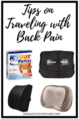 Traveling with back pain is not fun and can ruin your trip. So from trial and error, I have found several different ways to relieve and prevent back pain when I travel.