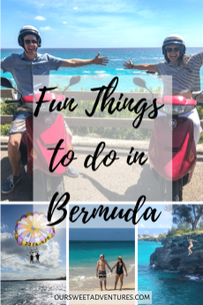 Bermuda is full of fun things to do. Whether it be relaxing or thrilling, there is something fun for everyone - parasailing, relaxing on beautiful beaches, cliff jumping, driving a scooter, exploring caves and more.