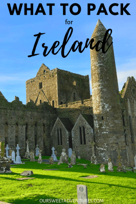 Looking for inspiration on what to pack for your trip to Ireland? Then you have come to the right place. From first-hand experience, I know exactly what to wear for Ireland and what to pack. Check out my Lucky Packing Guide to read more.