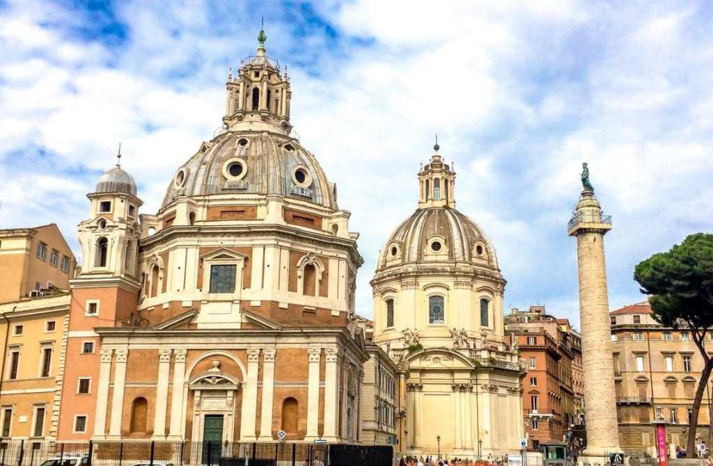 Domes of the Church of Santa Maria di Loreto