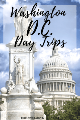 Washington D.C. is a great destination because it is surrounded by so many amazing places. That is why, as locals, we spend most of our time doing day trips from D.C. From wineries to beaches, historical destinations, outdoor adventures and more, each destination is worth a day trip.