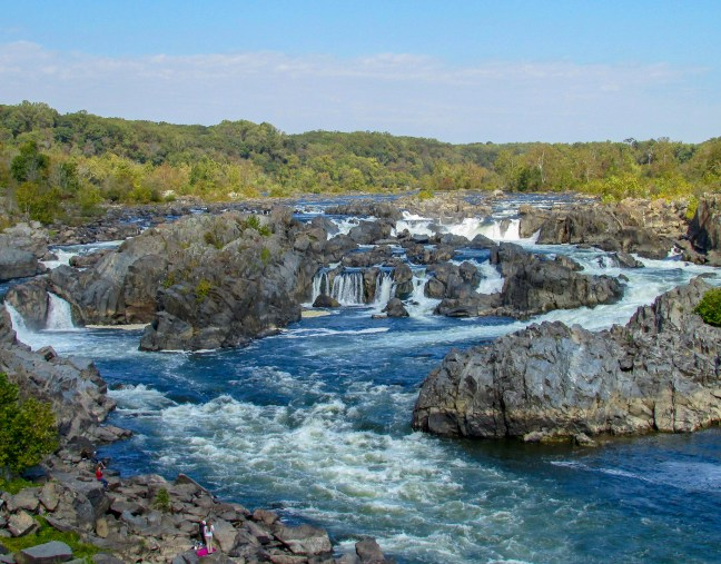 Great Falls Park has one of the most beautiful waterfalls in the country and it is just minutes from the nation's capitol, Washington D.C.