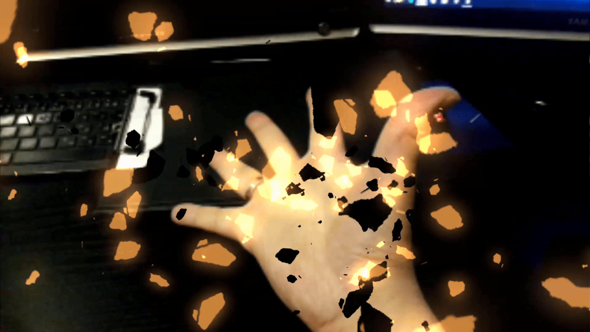 Manomotion - Augmented Reality Effect Manipulation - Hand Tracking and Gesture Recognition