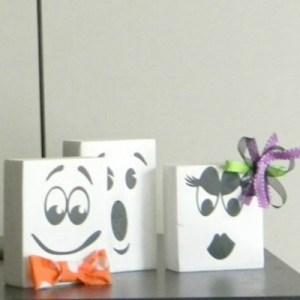 Fun Faced Ghost Blocks
