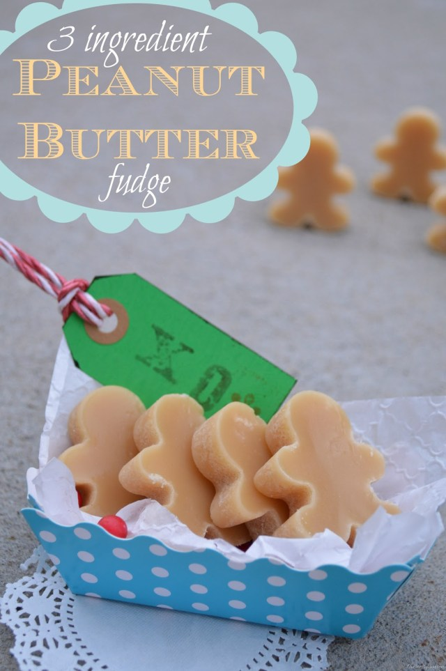 This peanut butter fudge only requires 3 ingredients!! So easy and yummy