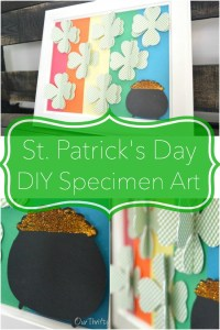 St. Patrick's Day specimen art - DIY step-by-step tutorial