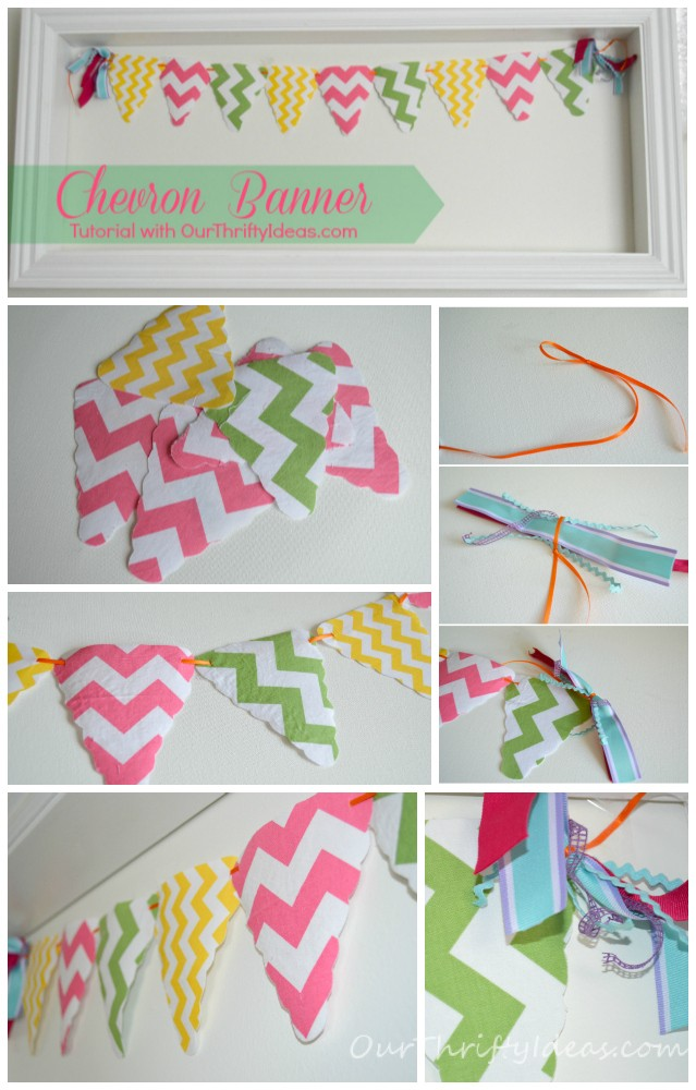 Chevron Banner made with Riley Blake's chevron fabric from OurThriftyIdeas.com