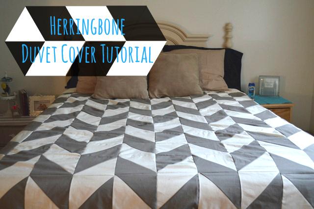 Herringbone Duvet Cover Tutorial