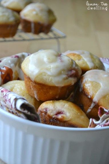 Glazed Strawberry-Peach Muffins 5