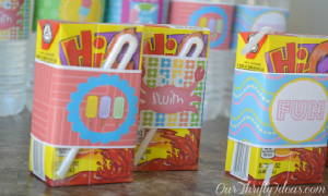 Printable Water Bottle Wrappers for Summer from OurThriftyIdeas.com