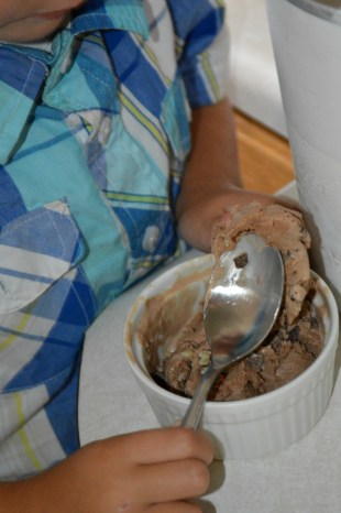 Chocolate Mint Chunk Ice Cream with Hamilton Beach and OurThriftyIdeas.com