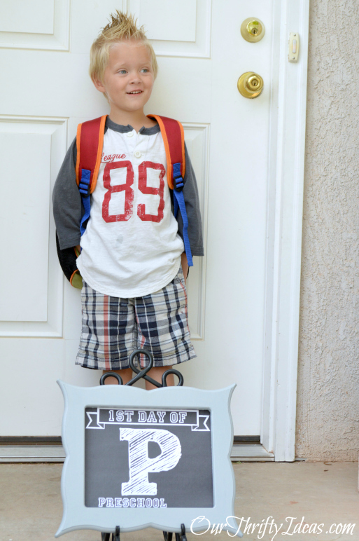 Back To School Pictures with OurThriftyIdeas.com